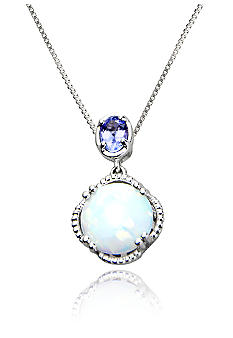 Belk & Co. Sterling Silver Created Opal and Tanzanite Pendant