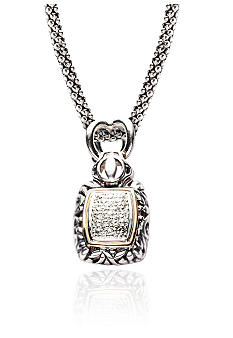 Belk & Co. 1/3 ct. t.w. Diamond Pendant in Sterling Silver with 14k Gold