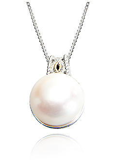 Belk & Co. Sterling Silver and 14k Yellow Gold Pearl Pendant