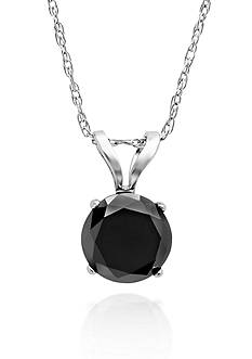 Belk & Co. 1.00 ct. t.w. Black Diamond Solitaire Pendant in 14k White Gold