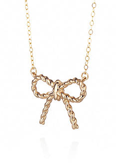 Belk & Co. 10k Yellow Gold Bow Necklace