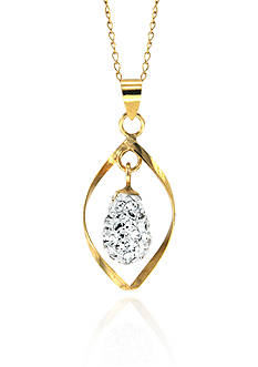 Belk & Co. Swarovski Crystal Pendant in 10k Yellow Gold