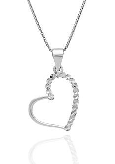 Belk & Co. Sterling Silver Heart Pendant