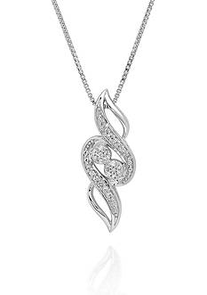 Belk & Co. .05 ct. t.w. Diamond Swirl Pendant in Sterling Silver