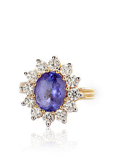 Belk & Co. 14k Yellow Gold Tanzanite and Diamond Ring