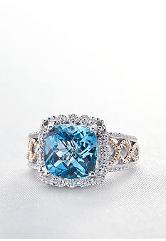 Belk & Co. Sterling Silver and 14k Blue Topaz Ring