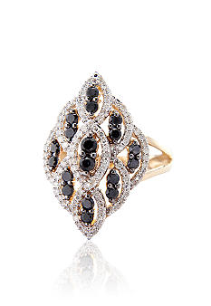 Belk & Co. Black and White Diamond Ring in 10k Gold