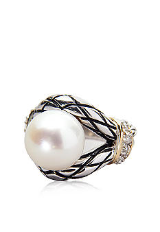 Belk & Co. Sterling Silver and 14k Freshwater Pearl Ring