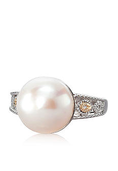Belk & Co. Sterling Silver and 14k Yellow Gold Freshwater Pearl Ring