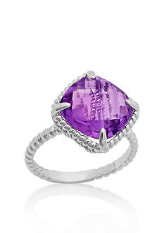 Belk & Co. Sterling Silver Amethyst Ring
