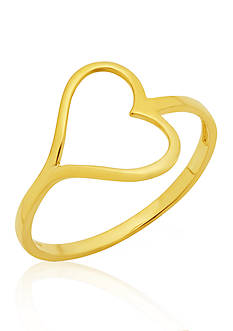 Belk & Co. 10k Yellow Gold Open Heart Ring