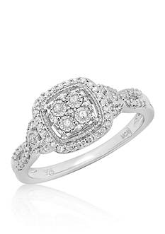Belk & Co. .22 ct. t.w. Diamond Illusion Ring in Sterling Silver