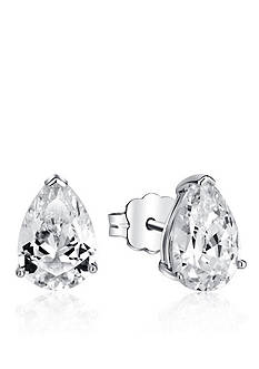 Belk & Co. Platinum Plated Sterling Silver Cubic Zirconia Pear Shaped Earring