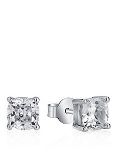 Belk & Co. Platinum Plated Sterling Silver Cubic Zirconia Stud Earring