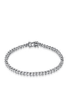 Belk & Co. Platinum Plated Sterling Silver Cubic Zirconia Tennis Bracelet