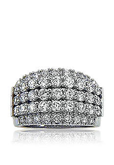 Belk & Co. Platinum Plated Sterling Silver Cubic Zirconia Band