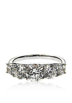 Belk & Co. Platinum Plated Sterling Silver Cubic Zirconia Ring