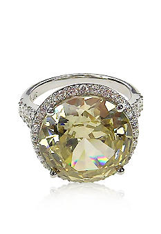 Belk & Co. Platinum Plated Sterling Silver Yellow Round Cubic Zirconia Ring