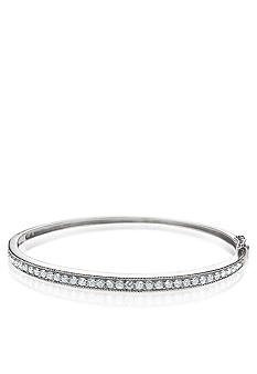 Belk & Co. Platinum Plated Sterling Silver Cubic Zirconia Bangle