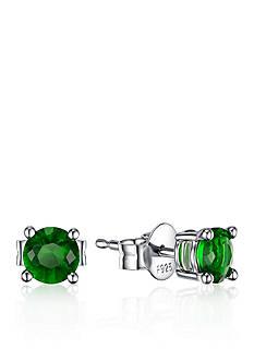 Belk & Co. Platinum Plated Sterling Silver Green Cubic Zirconia Earrings