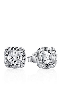 Belk & Co. Platinum Plated Sterling Silver Cubic Zirconia Earrings