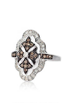 Belk & Co. Mocha Diamond Ring in Sterling Silver