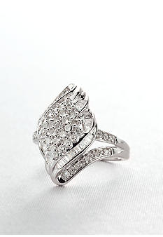 Belk & Co. Diamond Cluster Ring in Sterling Silver