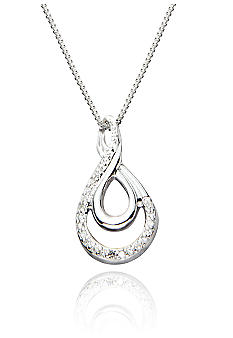 Belk & Co. Diamond Infinity Pendant in Sterling Silver