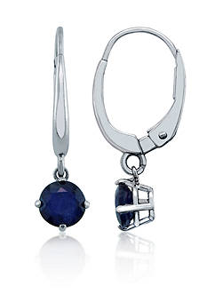 Belk & Co. Sapphire Earrings in 10k White Gold