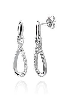 Belk & Co. Diamond Earrings in Sterling Silver