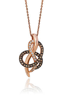 Le Vian Chocolate Diamond® and Vanilla Diamond™ Pendant in 14k Strawberry Gold® - Belk Exclusive