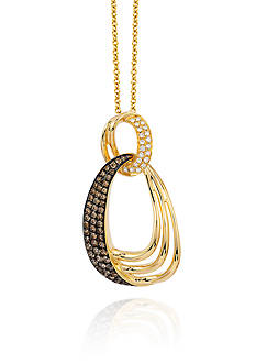 Le Vian Chocolate Diamond® and Vanilla Diamond® Accent Pendant in 14k Honey Gold™ - Belk Exclusive