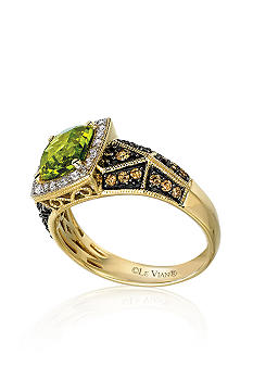 Le Vian Peridot and Diamond Ring