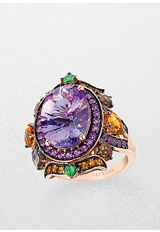 Le Vian Amethyst Oval Ring with Multi Color Stones