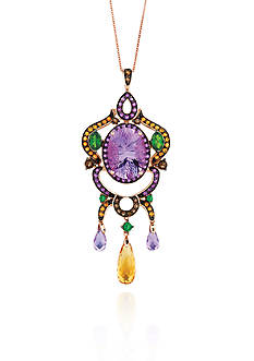 Le Vian Amethyst and Multicolor Stones Pendant - Belk Exclusive