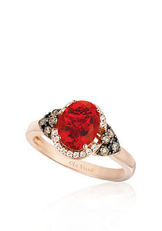 Le Vian 14k Strawberry Gold® Neon Tangerine Fire Opal® and Chocolate Diamond® and Vanilla Diamond® Ring - Be