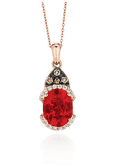 Le Vian Neon Tangerine Fire Opal Pendant with Diamonds