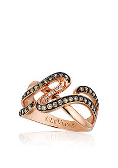 Le Vian Chocolate Diamond® and Vanilla Diamond™ Ring in 14k Strawberry Gold® - Belk Exclusive