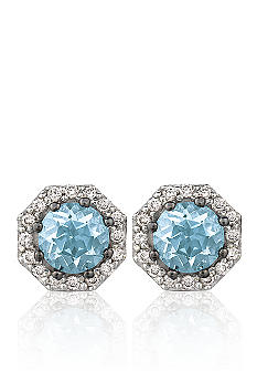 Le Vian Aquamarine Earrings with Vanilla Diamonds