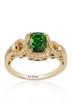 Le Vian 14k Honey Gold™ Pistachio Diopside™ and Vanilla Diamond® Ring - Belk Exclusive
