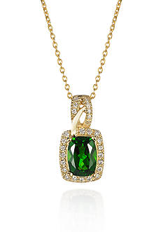 Le Vian 14k Honey Gold™ Pistachio Diopside™ and Vanilla Diamond® Pendant - Belk Exclusive