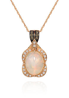 Le Vian Spumoni Opal™, Chocolate Diamond® and Vanilla Diamond® Pendant in 14k Strawberry Gold® - Belk Exclu