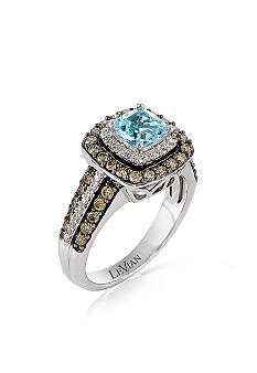 Le Vian Aqua and Diamond Ring