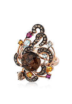 Le Vian Chocolate Quartz Multistone Ring