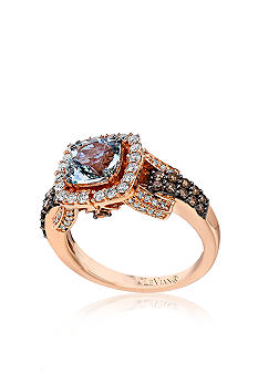 Le Vian Aquamarine and Diamond Ring