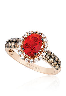 Le Vian Neon Tangerine Fire Opal Ring with Diamonds