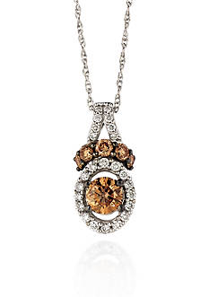 Le Vian Chocolate Diamond® and Vanilla Diamond® Pendant in 14k Vanilla Gold® - Belk Exclusive