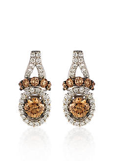 Le Vian Chocolate Diamond® and Vanilla Diamond® Earrings in 14k Vanilla Gold® - Belk Exclusive