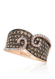 Le Vian Chocolate Diamond® and Vanilla Diamond® Swirl Band in 14k Strawberry Gold® - Belk Exclusive