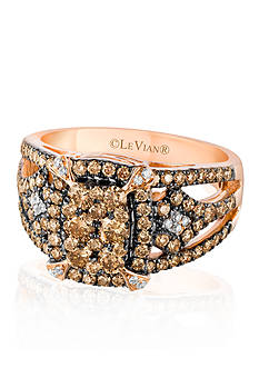 Le Vian Chocolate Diamond® and Vanilla Diamond® Ring in 14k Strawberry Gold® - Belk Exclusive